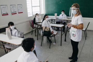 Clases presenciales en San Juan, la primera provincia que volvió a las aulas en 2020 Foto NA